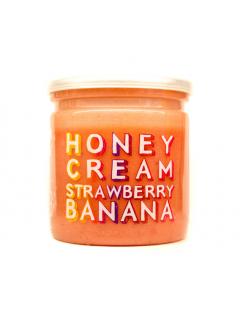 Кремовый мёд клубника-банан grizzly nuts, 230 г