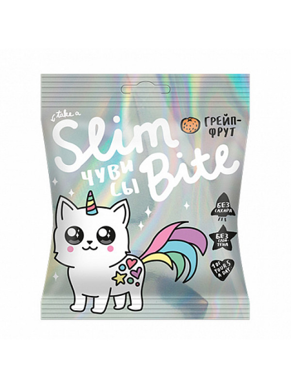 """Чувисы Bite Slim Unicorn """"Грейпфрут"""" Bite, 20 г"""