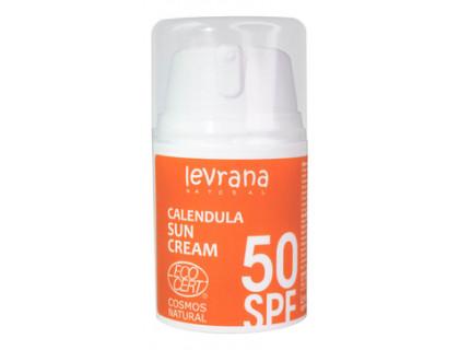 Солнцезащитный крем для тела календула, spf50 levrana 50 мл
