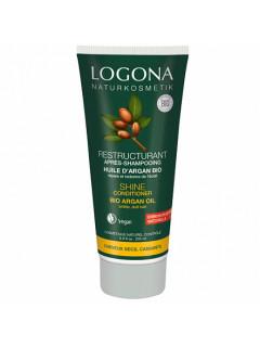 Кондиционер для блеска волос с био-аргановым маслом Logona, 200 мл