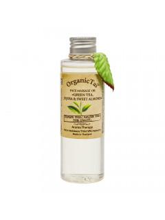 Массажное масло для лица «зеленый чай, жожоба и сладкий миндаль», 120 мл