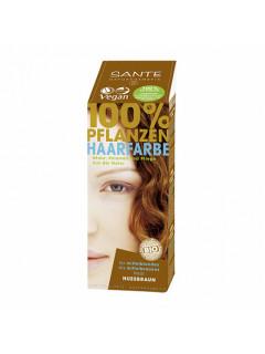 """Краска растительная для волос """"Коричневый ореховый"""" Sante, 100 г"""