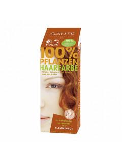 """Краска растительная для волос """"Огненно-рыжий"""" Sante, 100 г"""