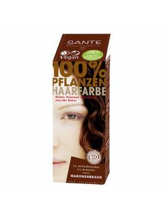"""Краска растительная для волос """"Коричневый каштановый"""" Sante, 100 г"""