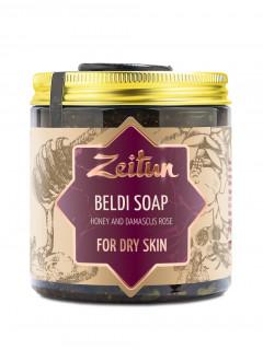 """Бельди """"мёд и дамасская роза"""" для сухой кожи, 250 г"""