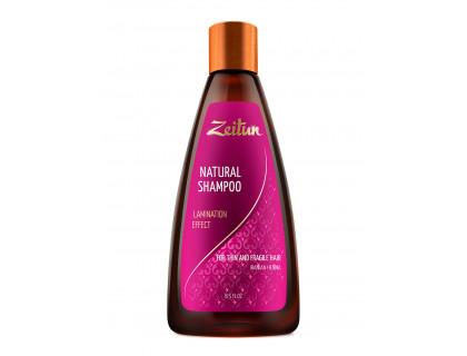 """Шампунь Zeitun """"Эффект ламинирования"""" для тонких и хрупких волос с иранской хной"""
