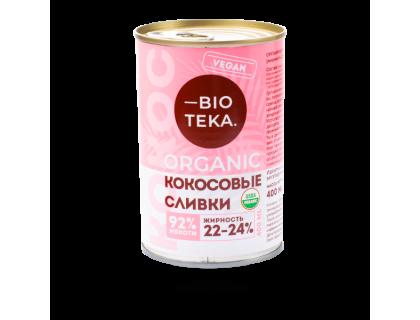 Органические кокосовые сливки BIOTEKA